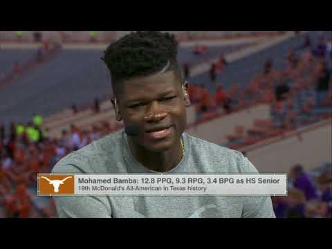 "Bamba appears on LHN's ""Texas GameDay"" set [Oct. 8, 2017]"