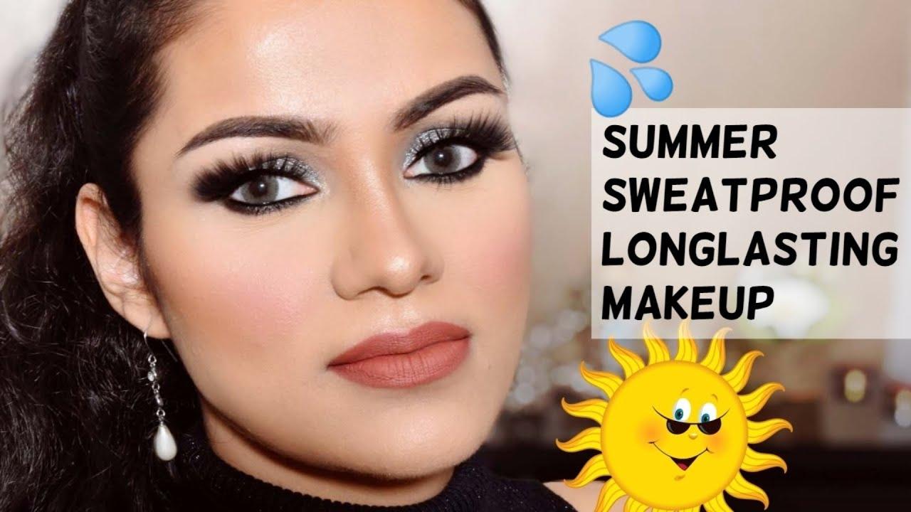 Summer Sweatproof Long Lasting BASE MAKEUP Tutorial गर्मीं में पसीना रहित बेस मेकअप कैसे करें