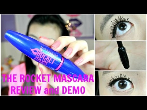 {MMM}: Maybelline THE ROCKET VOLUME EXPRESS Mascara Review/Demo!!