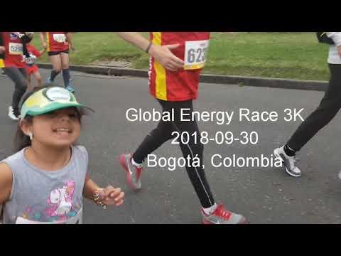 Primera carrera de Ana Lucía 3K Global Energy Race Bogotá Colombia 2018