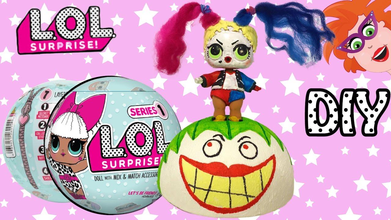 Lol Surprise Bal Diy Ball Make Over Harley Quinn The Joker