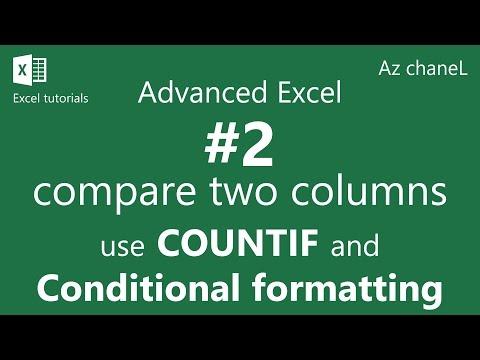Vote No on : Excel compare two columns