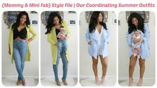 {Mommy & Mini Fab} Style File | Our Coordinating Summer Outfits