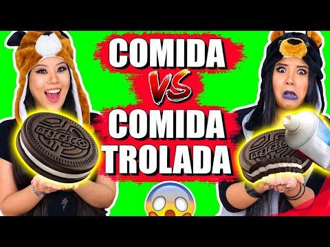 COMIDA NORMAL VS COMIDA TROLADA   Blog das irmãs