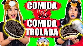 COMIDA NORMAL VS COMIDA TROLADA !! | Blog das irmãs