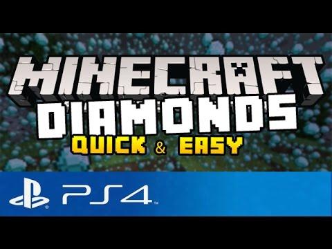 Minecraft PS4 - Best Way to Find Diamonds! ( Quick & Easy Diamonds on Minecraft Playstation 4 )