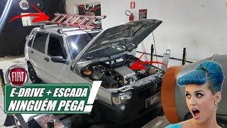 VLOG7008 - FIAT UNO com E-DRIVE + ESCADA no dinamômetro = CAVALARIA INFINITA!