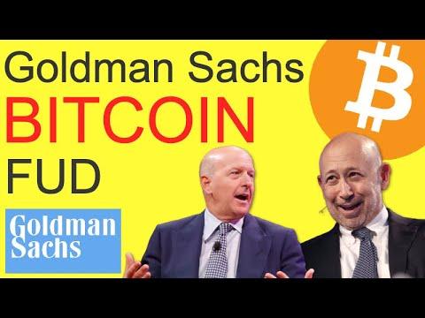 "Goldman Sachs BITCOIN FUD – ""Crypto Not An Asset Class"""