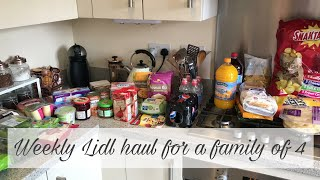WEEKLY LIDL FOOD HAUL & MEAL PLAN FOR A FAMILY OF 4