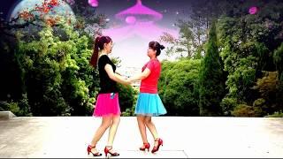 姐妹長相漂亮穿的靚麗跳廣場舞 雙人對跳舞 好看越跳越年輕