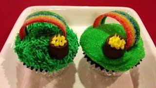 Over the Rainbow Cupcakes - Pot of Gold - St. Patrick