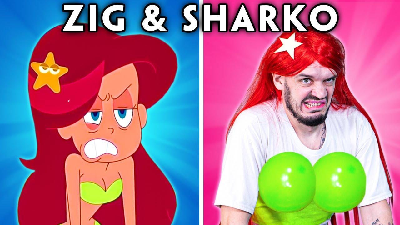 ZIG AND SHARKO WITH ZERO BUDGET - Zig & Sharko and Marina Funny Cartoon Parodies