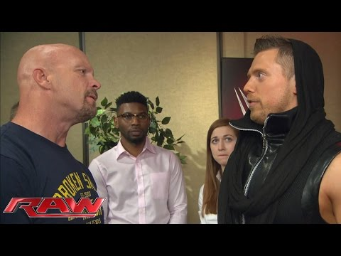 "The Miz steps into ""Stone Cold"" Steve Austin boots in WWE 2K16: Raw, October 26, 2015"