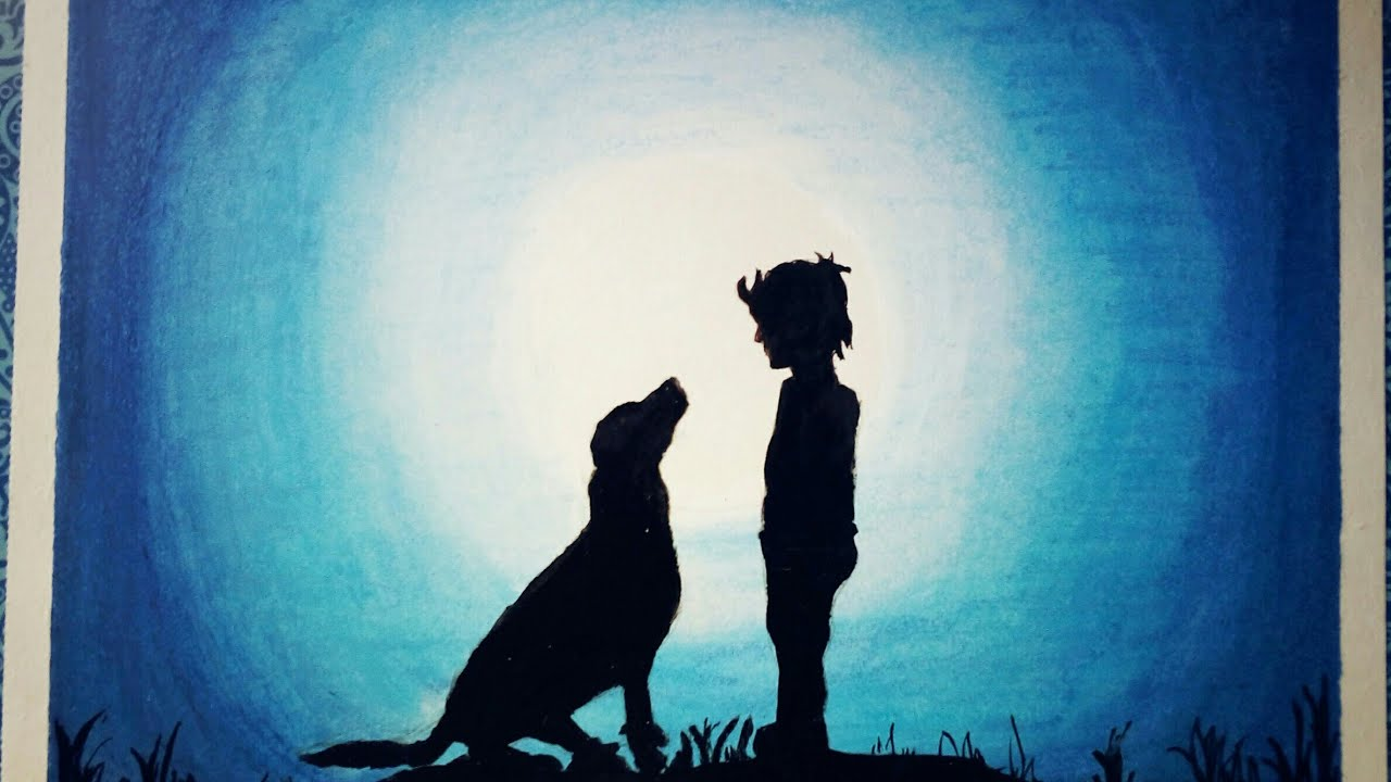 Image result for shadow of boy and dog