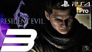 Resident Evil 6 (PS4) - Gameplay Walkthrough Part 3 - Iluzija Snake Boss Fight (Chris) [1080P 60FPS]