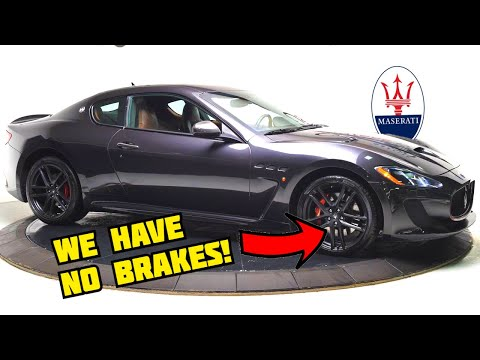 RARE Maserati GranTurismo MC! DIY Brake Pad CHange  **SAVING $7000**