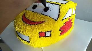 Bánh kem hình ô tô dễ thương -  Cute car cream cake