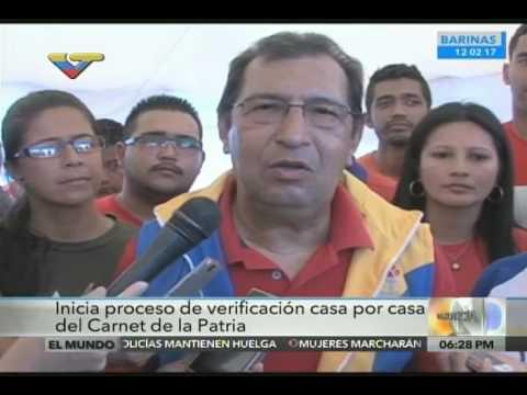 Ministro Adán Chávez acompañó proceso de carnetización de la Patria en Barinas