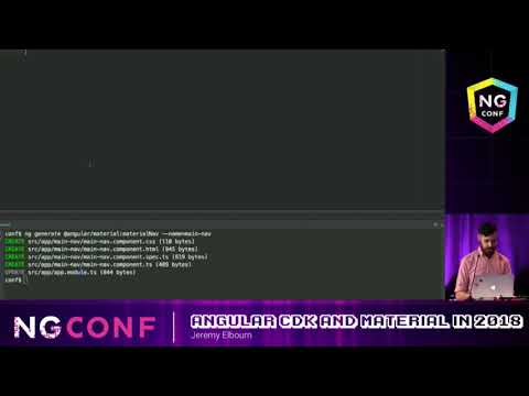 Angular CDK and Material in 2018 - Jeremy Elbourn