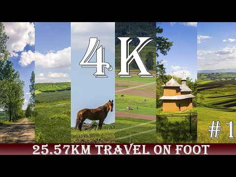 Discover Romania Travel on foot 25.57km Episode #1 First trip on video