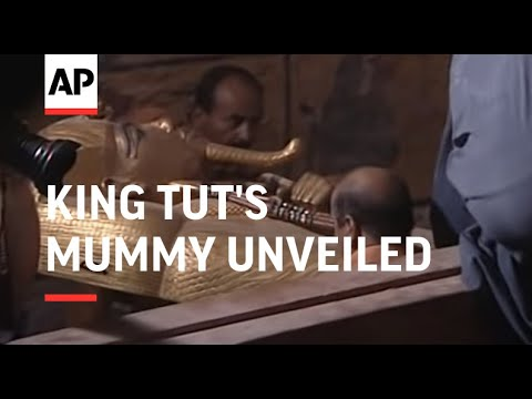 King Tut's mummy unveiled to public for first time