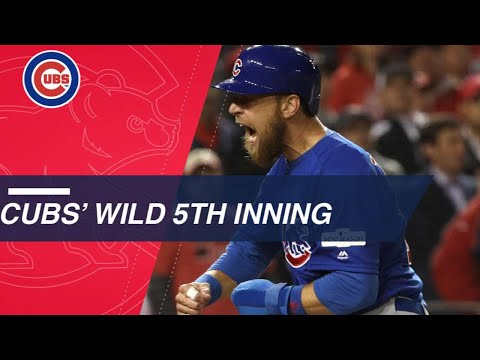 Watch the big moments from the 5th inning of NLDS Gm5