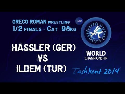 Semifinal - Greco Roman Wrestling 98 kg - O. HASSLER (GER) vs C. ILDEM (TUR) - Tashkent 2014