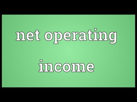Net operating income Meaning