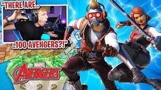 I got 100 AVENGERS to scrim for $100 in Fortnite... (most intense scrim ever)