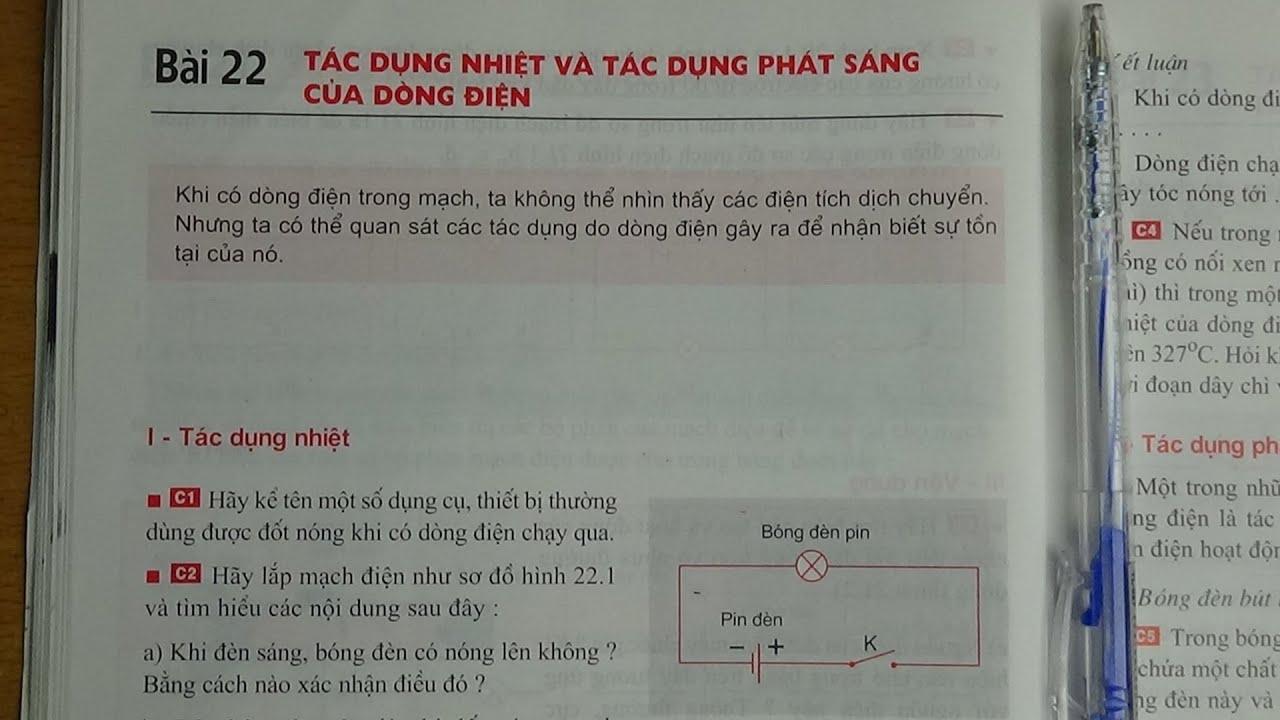 [ Vật Lí 7 ] Bài 22 Tác dụng nhiệt và tác dụng phát sáng của dòng điện (sgk)