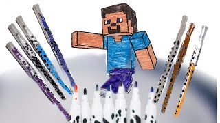 Learn Colors and How to Draw Steve from Minecraft Cute and Easy for Beginners