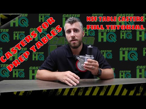 NSF Table Casters - Add Wheels To Any Kitchen Prep Table And Stainless Prep Table!