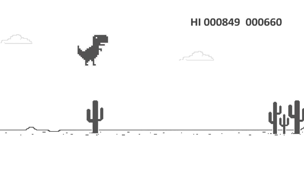 Google Dino T Rex Game Best Offline Game Youtube