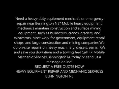 24 Hour Emergency Mobile Heavy Duty Mechanic Near Bennington NE | FX Mobile Mechanic