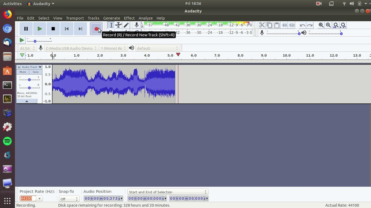 Using Audacity to Capture Audio from Short Wave Radio Line Out