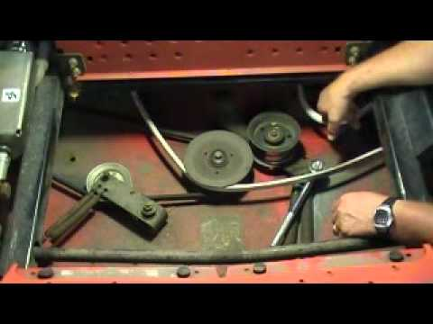 When and How Replace A Deck Belt on a Commercial Mower - YouTube