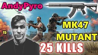 PUBG - AndyPyro & Jazza - 25 KILLS - INTENSE GAME - MK47 MUTANT!