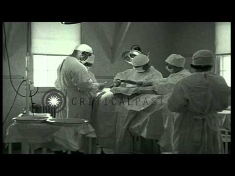 Prisoner of War Camp in Southern United states: Prisoners receiving medical care ...HD Stock Footage