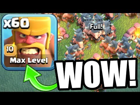 Thumbnail: FIRST EVER MAX LEVEL TROOP! - INSANELY OP LvL 10 RAGED BARBARIANS BUILDERS VILLAGE! - Clash Of Clans