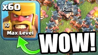 FIRST EVER MAX LEVEL TROOP! - INSANELY OP LvL 10 RAGED BARBARIANS BUILDERS VILLAGE! - Clash Of Clans