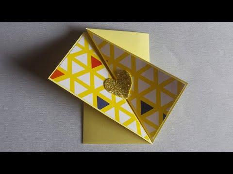 Diagonal Fold Card | Gift Card | Friendship Day Card | Handmade fold card