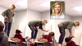 "Teacher Quits After Video Surface Of Her On Top Of Student Desk Trying ""Wake Him"". [2018]"