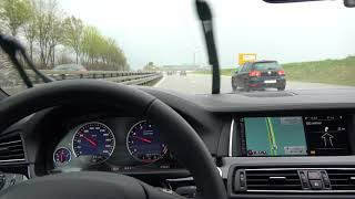 [4k] DSC at 120 km/h all the time BMW Alpina B5 BiTurbo Ediition 50 in the RAIN