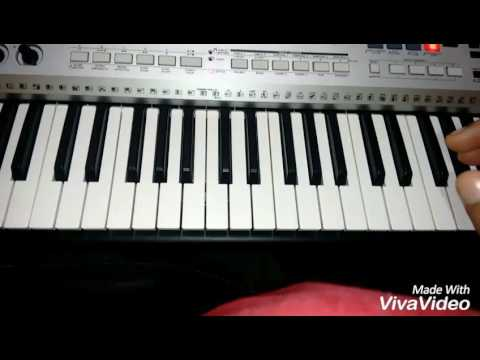 How to play happy birthday song on keyboard easy to play with notes