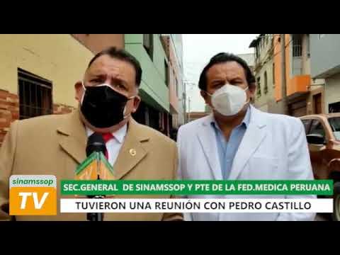 DIRIGENTES MÉDICOS DE ESSALUD Y MINSA SE REUNIERON CON CANDIDATO PRESIDENCIAL PEDRO CASTILLO