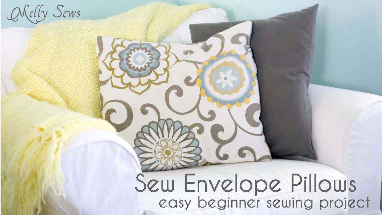 How to Sew an Envelope Pillow Cover - Easy Sewing Project - YouTube