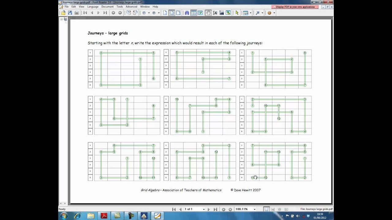 Grid Algebra - Single User Licence - Activities, Algebra, Approach