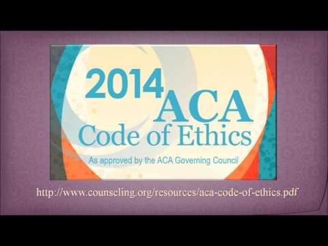 2014 ACA Code of Ethics