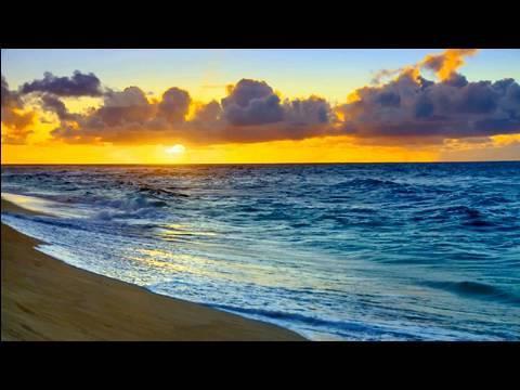 Relaxing Nature Scenes - Hawaii Sunset relaxing ocean waves - YouTube