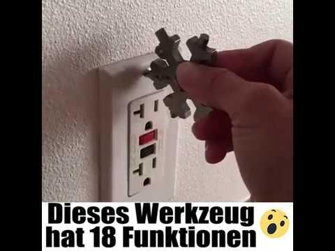 3x 18 in 1 Multi Werkzeug Outdoor Multitool Edelstahl Schneeflocken Multi tool ★